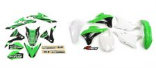 New KX 85 14 15 16 17 18 19 FLU PTS4 Graphics Sticker Plastic Kit White Rear